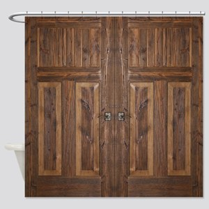 Wooden Door Shower Curtain