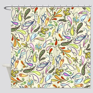 Crazy For Paisley Shower Curtain