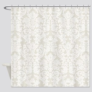 lace pattern - white beige Shower Curtain