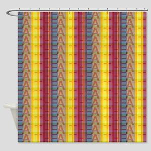 Multicolored Faith Shower Curtain