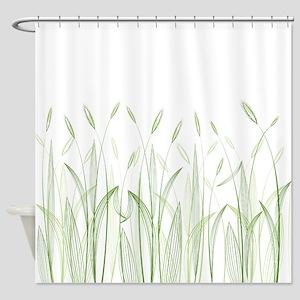 Delicate Grasses Shower Curtain