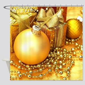 Christmas Ornament Shower Curtain