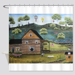 Micks Cove Shower Curtain