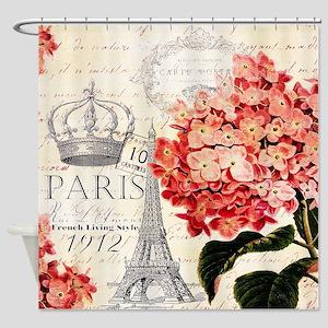 Paris hydrangea Shower Curtain