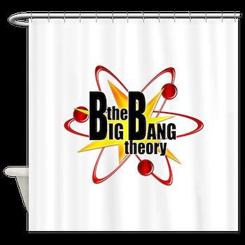 Big Bang Theory Atom Symbol Shower Curtain Big Bang Theory Atom