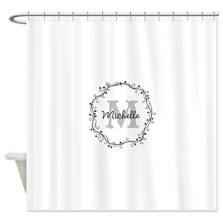 Personalized Vintage Monogram Shower Curtain By Hqart