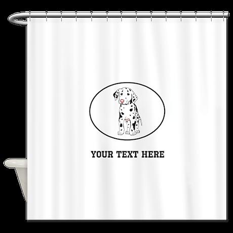 Custom Dalmatian Shower Curtain By AnimalAndDogLovers