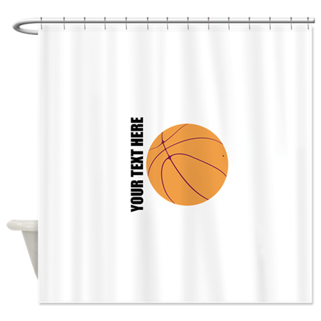 Basketball Shower Curtain By SportsHobbiesActivities