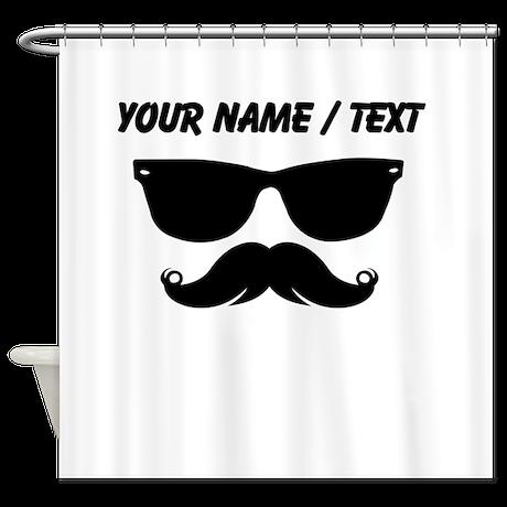 Custom Sunglasses Mustache Shower Curtain by MustacheHumor