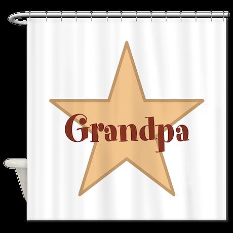 Grandpa, Star. Shower Curtain