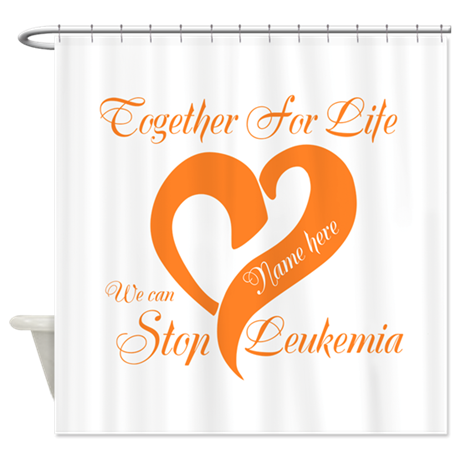 Stop Leukemia Shower Curtain