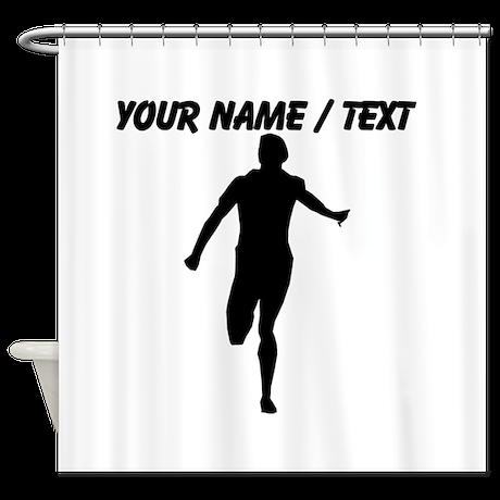Custom Runner Silhouette Shower Curtain