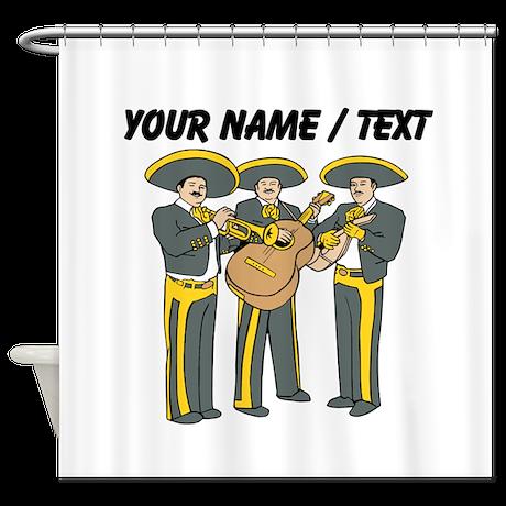 Custom Mariachi Band Shower Curtain