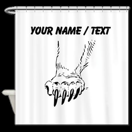 Custom Grizzly Bear Paw Shower Curtain