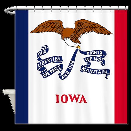 Iowa State Flag Shower Curtain