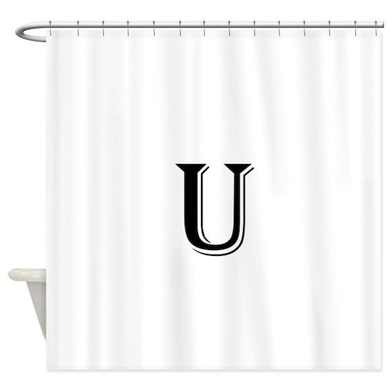 Fancy Letter U Shower Curtain By 2cool