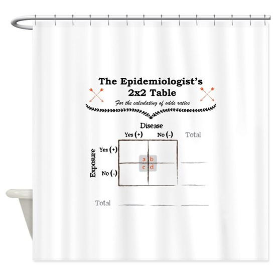 Epidemiologist Odds Ratio Shower Curtain by Epidemiology