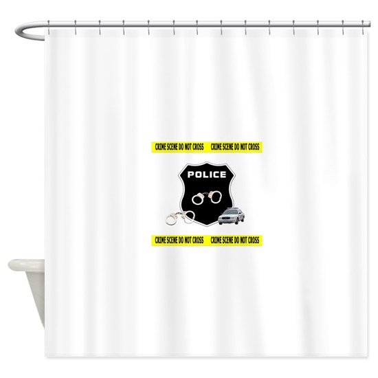 Police Crime Scene Shower Curtain by BonfireDesigns