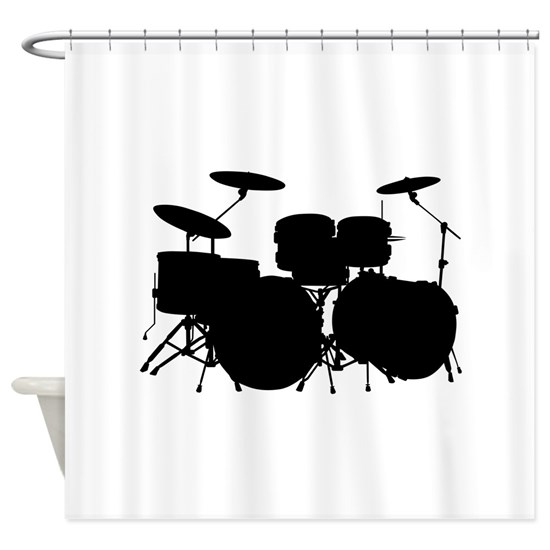 Music drums silhouette
