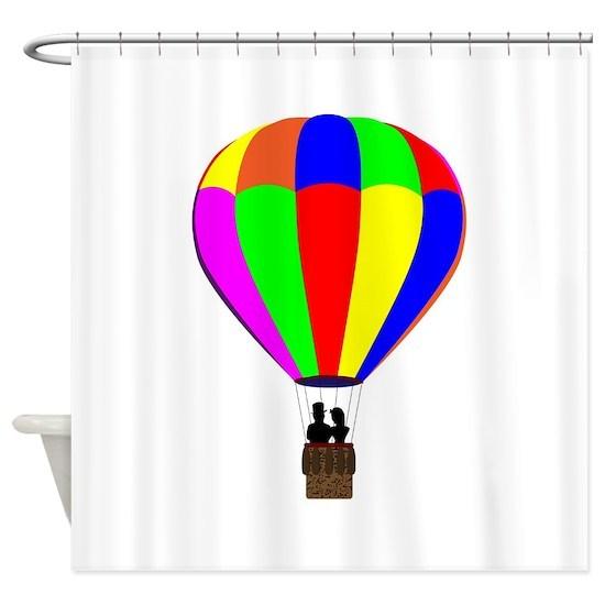 Hot Air Balloon Shower Curtain