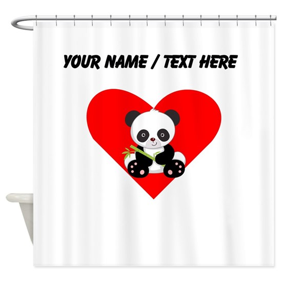 Custom Panda With Bamboo Heart