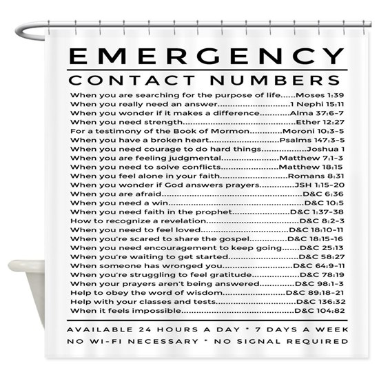 bible emergency number