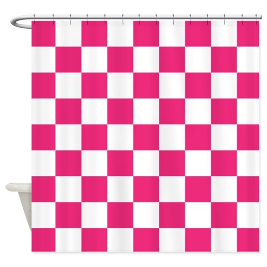 PINK AND WHITE Checkered Pattern