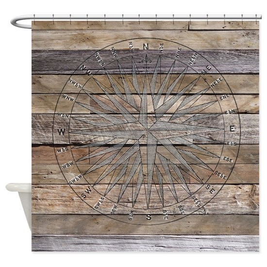 Rustic Nautical Compass Rose Wood