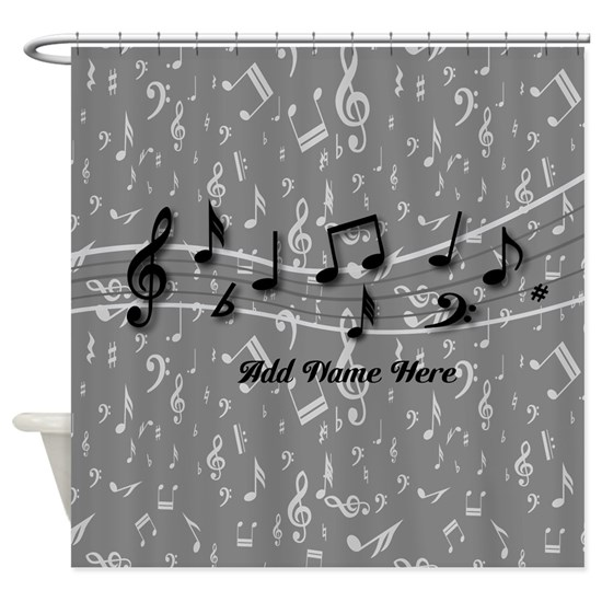 Personalized Grey black musical notes