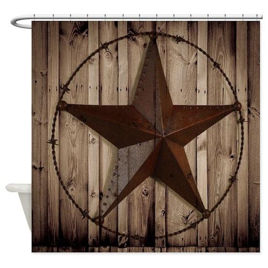 Western Texas Star Wood Grain Barn