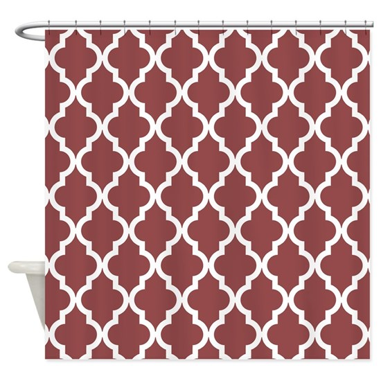 Moroccan Quatrefoil Pattern: Rustic Red