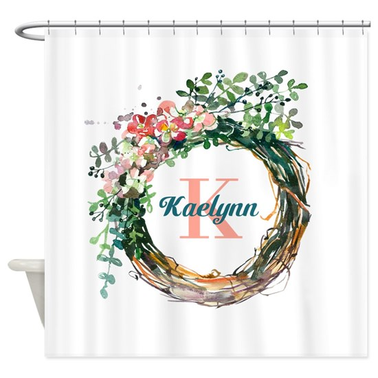 Spring Floral Wreath Monogram