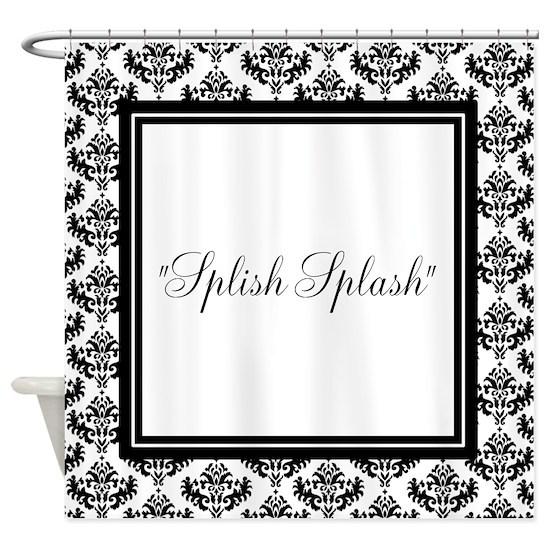 Black Damask Shower Curtain by Inspirationz Store - CafePress