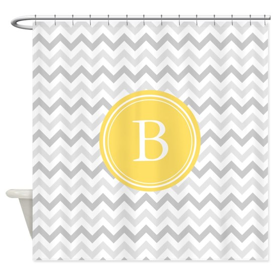 Yellow Gray Chevron