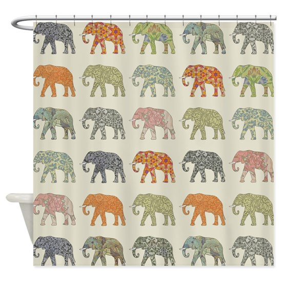 Elephant Colorful Pattern Decorator Design