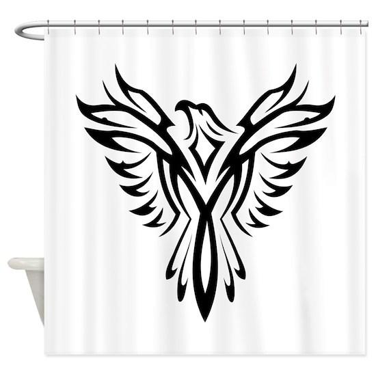 Tribal Phoenix Tattoo Bird Shower Curtain By Liviana Cafepress