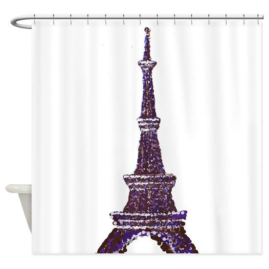 Eiffel Tower Pointillism dots