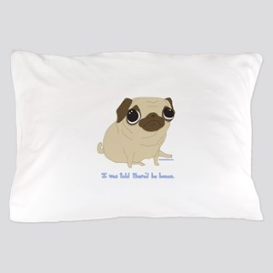 Bacon Pug Pillow Case