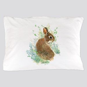 Cute Watercolor Bunny Rabbit Pet Animal Pillow Cas