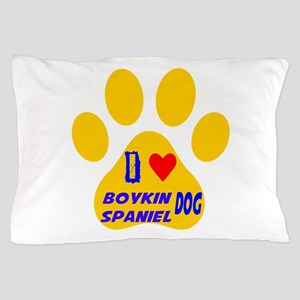 I Love Boykin Spaniel Dog Pillow Case