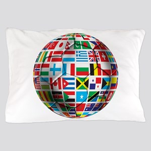 World Soccer Ball Pillow Case