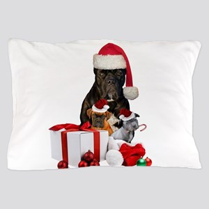 Christmas Cane Corso Pillow Case