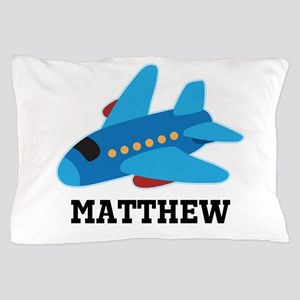 Personalized Airplane Jet Plane Pillow Case