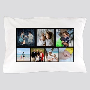 7 Photo Family Collage Pillow Case