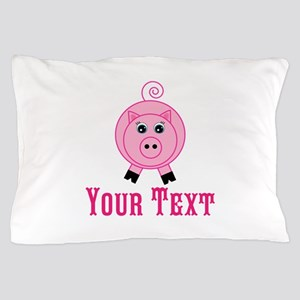 Personalizable Pink Pig Pillow Case