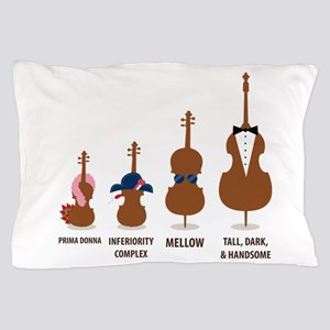 Funny Orchestra String Instruments Pillow Case