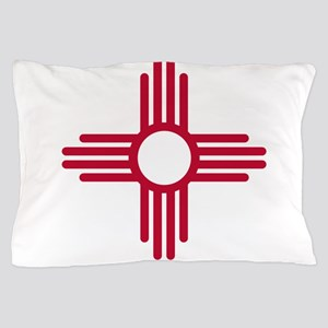 Red Zia NM State Flag Desgin Pillow Case