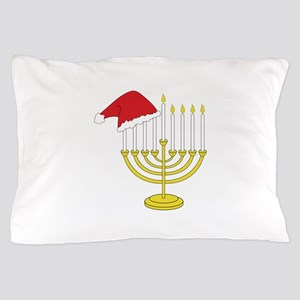 Hanukkah And Christmas Pillow Case