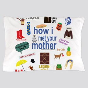 HIMYM Symbol Collage Pillow Case