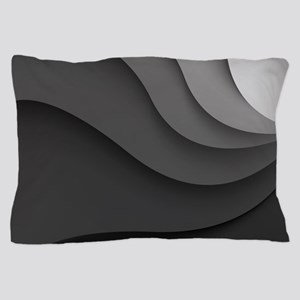 Black Abstract Pillow Case